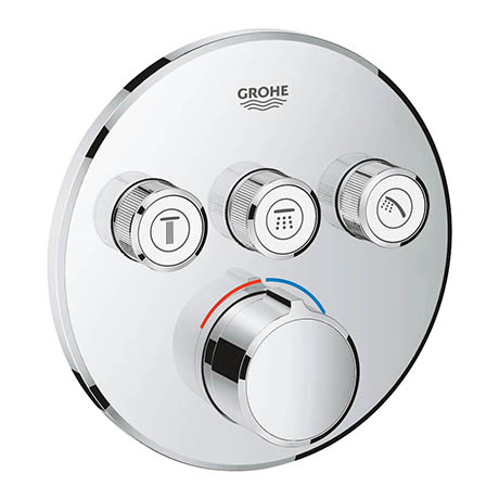 Grohe SmartControl Round 3 Outlet Concealed Mixer Trim - 29146000
