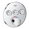 Grohe SmartControl Round 3 Outlet Concealed Mixer Trim - 29146000 profile small image view 1