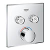 Grohe SmartControl Square 2 Outlet Concealed Mixer Trim - 29148000 profile small image view 1