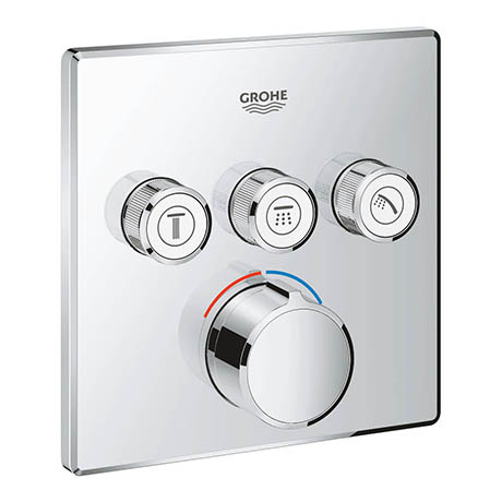 Grohe SmartControl Square 3 Outlet Concealed Mixer Trim - 29149000