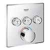 Grohe SmartControl Square 3 Outlet Concealed Mixer Trim - 29149000 profile small image view 1