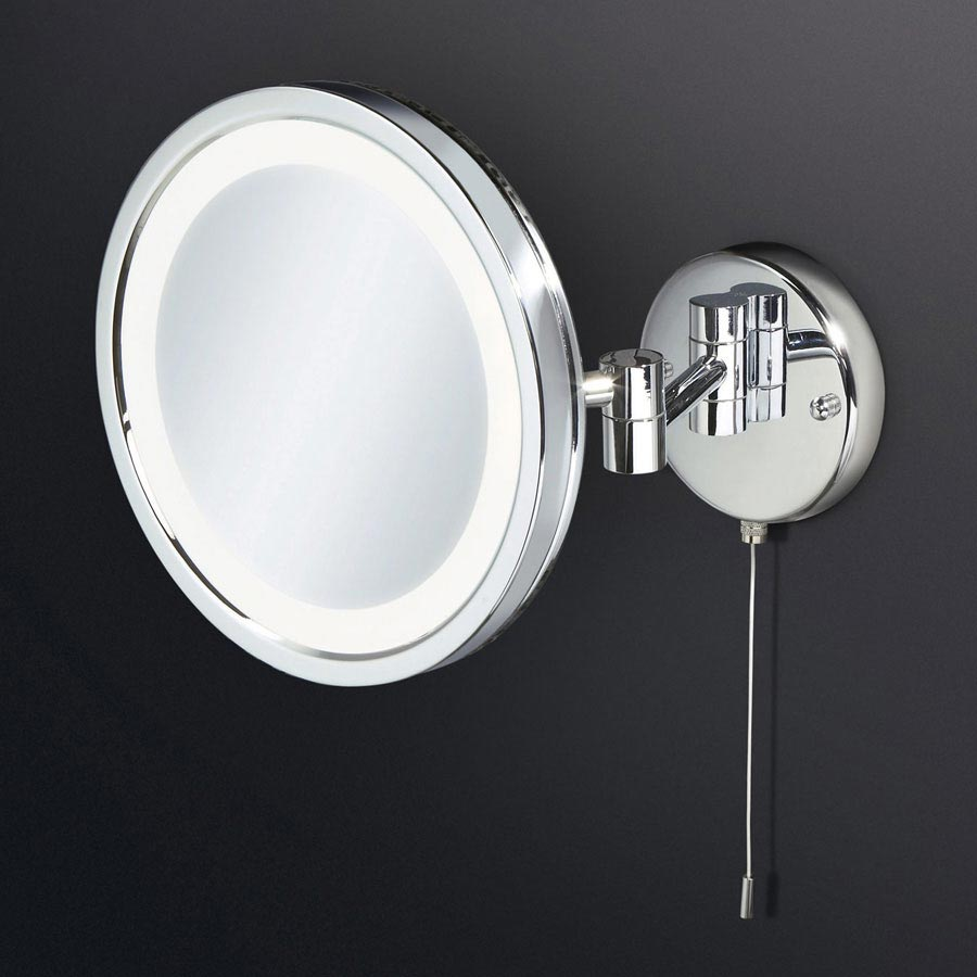 lighted bathroom mirrors magnifying hib halo led illuminated magnifying mirror 29200 19261