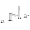 Grohe Plus 4 Tap Hole Single Lever Bath Shower Mixer Tap - 29307003 profile small image view 1