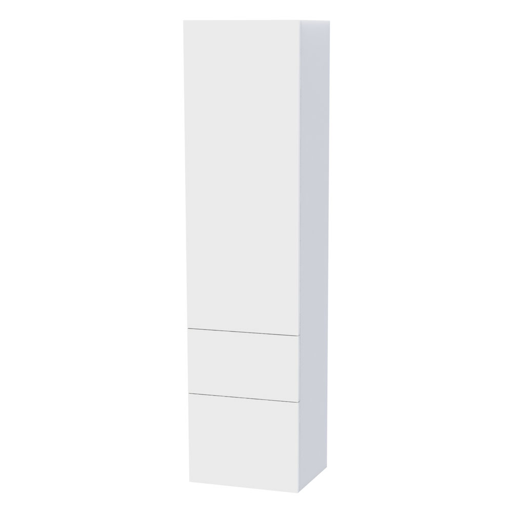 Miller - New York Tall Cabinet with Door Storage & Drawers - White Large Image