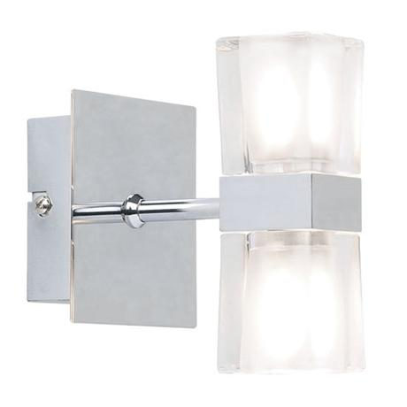 Endon - Enluce Double Cubed Switched Wall Light - Chrome - 298-2CH