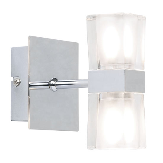 Endon - Enluce Double Cubed Switched Wall Light - Chrome - 298-2CH Large Image