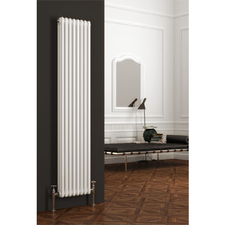 Reina Colona 2 Column Vertical Radiator - White