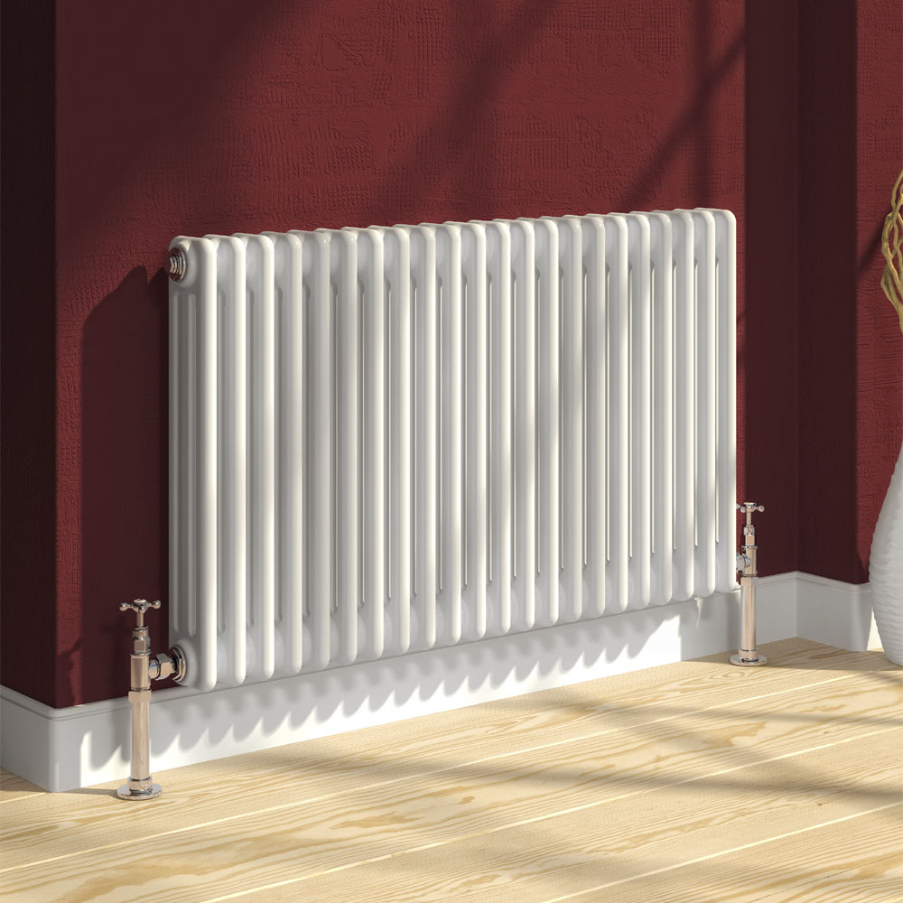 Reina Colona 2 Column Horizontal Radiator - White Large Image