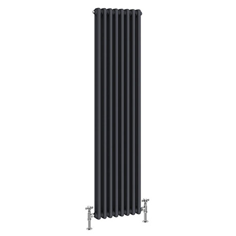 Keswick 1500 x 372mm Cast Iron Style Traditional 2 Column Anthracite Radiator