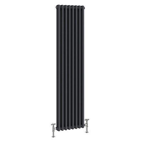 Keswick 1515 x 380mm Cast Iron Style Traditional 2 Column Anthracite Radiator