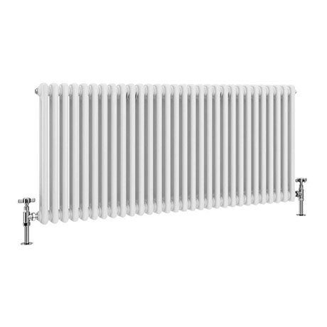 Keswick 600 x 1340mm Cast Iron Style Traditional 2 Column White Radiator