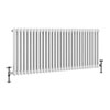 Keswick 600 x 1340mm Cast Iron Style Traditional 2 Column White Radiator profile small image view 1
