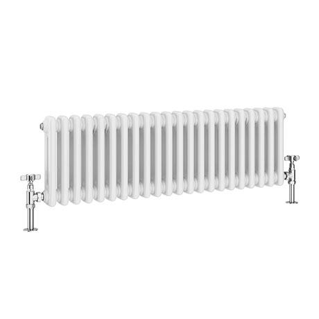 Keswick 315 x 1008mm Horizontal Radiator White 2 Column (22 Sections)