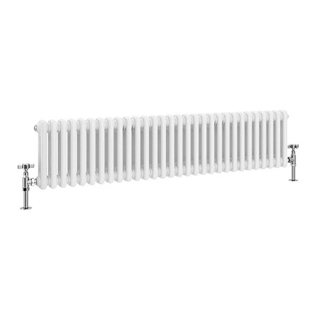 Keswick 300 x 1340mm Cast Iron Style Traditional 2 Column White Radiator