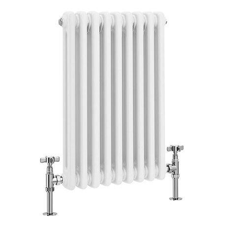 Keswick 600 x 423 Vertical Radiator White 2 Column (9 Section)