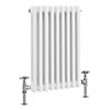Keswick 600 x 423mm Vertical Radiator White 2 Column (9 Sections) profile small image view 1