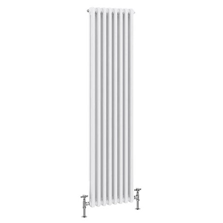 Keswick 1500 x 372mm Cast Iron Style Traditional 2 Column White Radiator