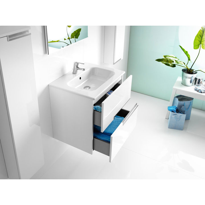 Roca - Victoria-N Unik 2 Drawer Vanity Unit with 600mm Basin - 4 x Colour Options profile large image view 4