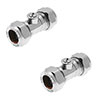 Pair of 15mm Chrome Isolating Valves Small Image
