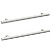 2 x Arezzo Industrial Style Knurled 'T' Chrome Handles (192mm Centres) profile small image view 1