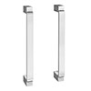 2 x York Chrome Art Deco Strap Additional Handles - L172mm (158mm Centres) profile small image view 1