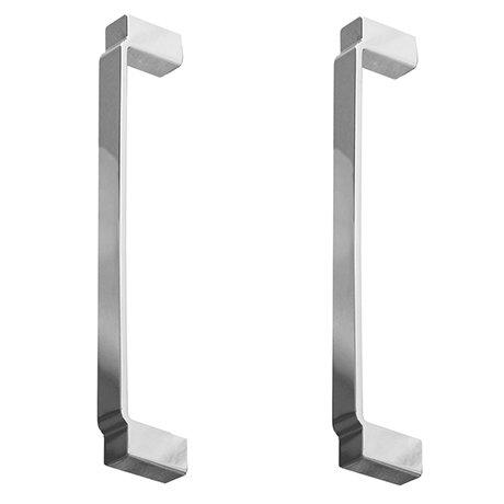 2 x York Chrome Art Deco Strap Additional Handles - L172mm (158mm Centres)