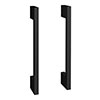 2 x Modern D Type Matt Black Additional Handles - L150mm (128mm Centres) profile small image view 1