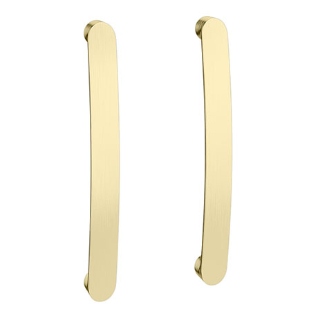 2 x Brooklyn Brushed Brass Additional Bar Handles - L210mm (196mm Centres)