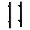 2 x Round 'T' Bar Matt Black Additional Handles - L155mm (96mm Centres) profile small image view 1