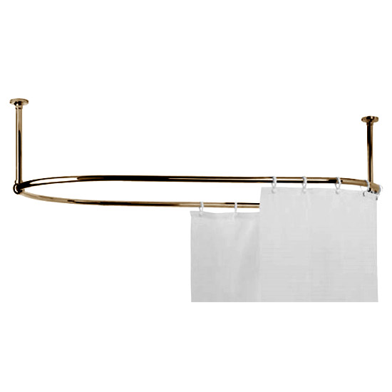 Mere Traditional Racetrack Shower Curtain Rail Gold 30