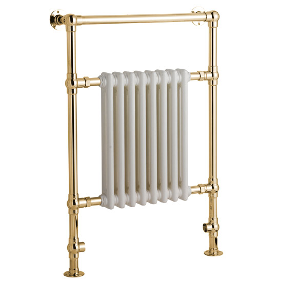Mere Traditional Flanders Radiator/Towel Rail - Gold - 30-6044 profile large image view 1