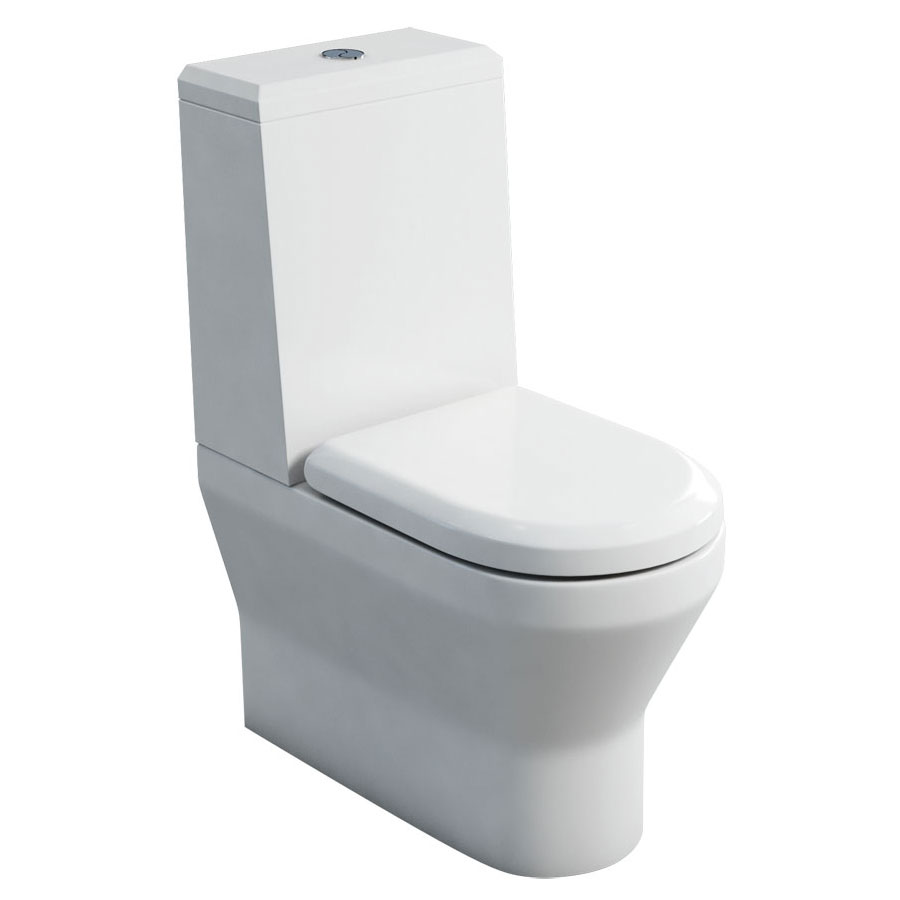Britton Bathrooms - Curve S30 Close Coupled Toilet with Angled Lid Cistern & Soft Close Seat (Back to Wall) Large Image
