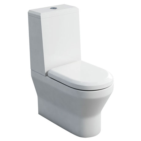 Britton Bathrooms - Curve S30 Close Coupled Toilet with Angled Lid Cistern & Soft Close Seat (Back to Wall)