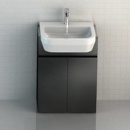 Britton Bathrooms - Curve S30 Semi Recessed basin 55cm - 30.1965 profile large image view 2