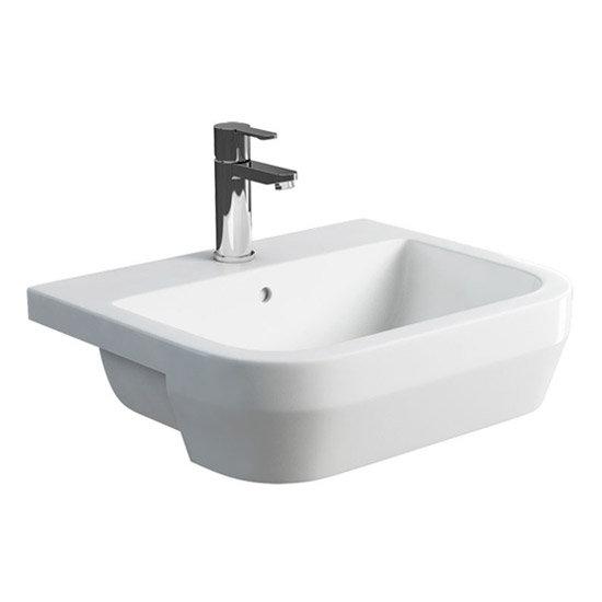 Britton Bathrooms - Curve S30 Semi Recessed basin 55cm - 30.1965