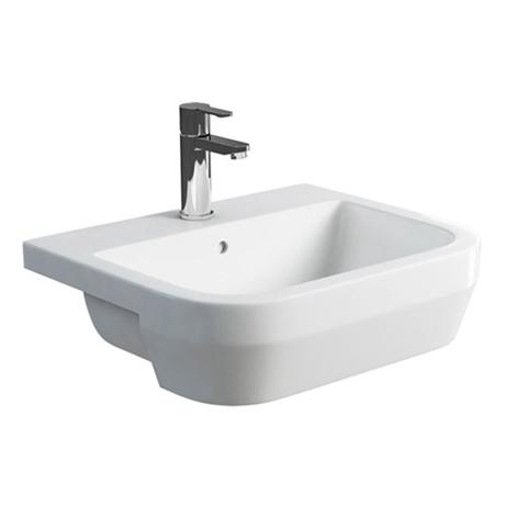 Britton Bathrooms - Curve S30 Semi Recessed basin 55cm - 30.1965
