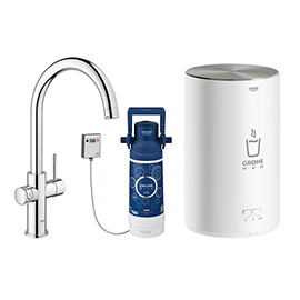 Grohe RED Duo Instant Boiling Water Kitchen Tap and M Size Boiler - Chrome - 30058001