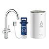Grohe Red 2.0 Duo Instant Boiling Water Kitchen Tap and M Size Boiler - Chrome - 30058001 profile small image view 1