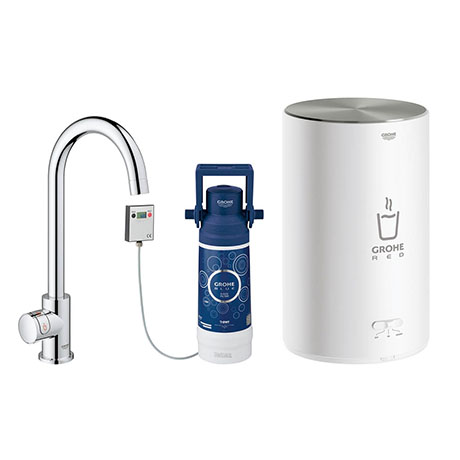 Grohe Red Mono Pillar Instant Boiling Water Kitchen Tap and M Size Boiler - 30060001