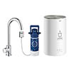 Grohe RED Mono Pillar Instant Boiling Water Kitchen Tap and M Size Boiler - 30060001 profile small image view 1