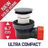 Wirquin Nano 6.7 Basin Waste & Trap In One profile small image view 1