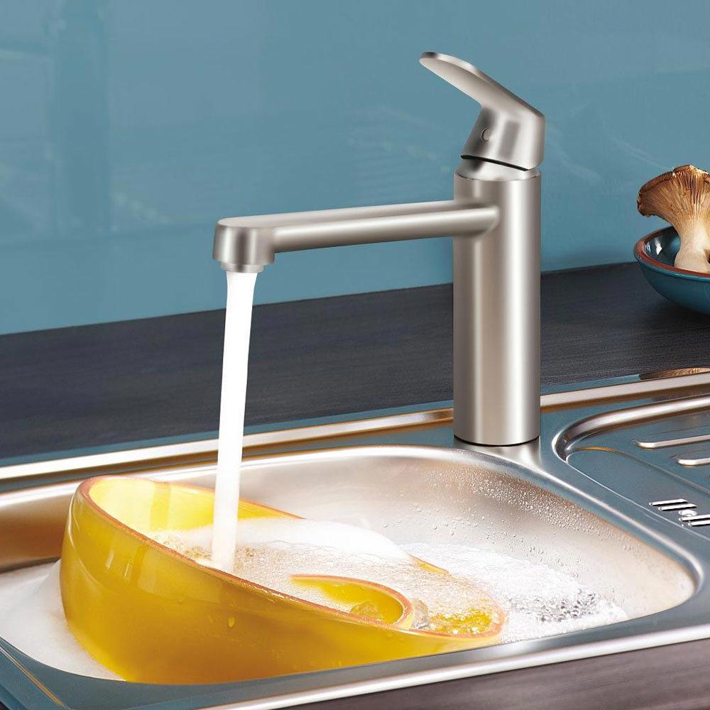 Grohe Eurosmart Cosmopolitan Kitchen Sink Mixer - SuperSteel - 30193DC0 profile large image view 2
