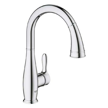 Grohe Parkfield Kitchen Sink Mixer with Pull Out Spray - Chrome - 30215000