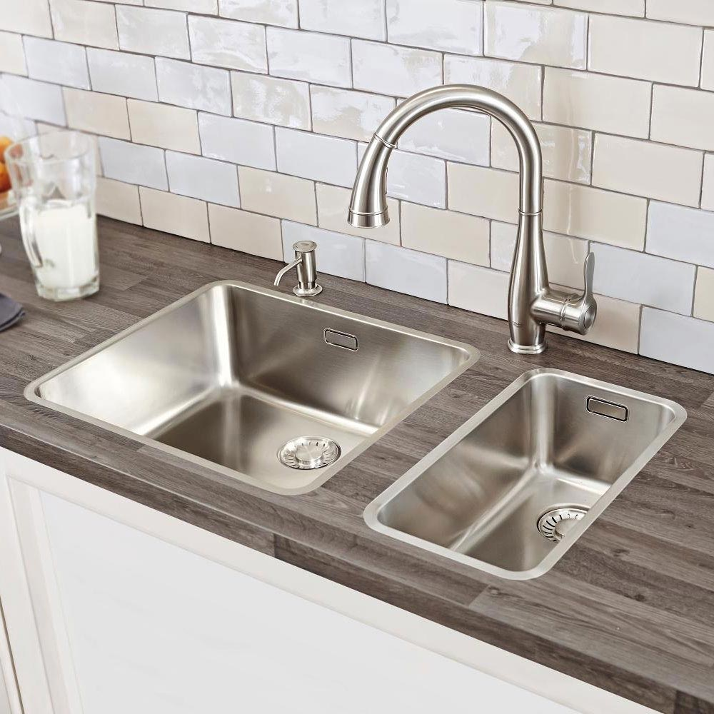 Grohe Parkfield Kitchen Sink Mixer with Pull Out Spray - SuperSteel - 30215DC0 profile large image view 3