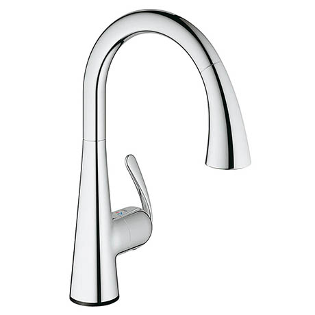 Grohe Zedra Touch Electronic Kitchen Sink Mixer with Pull Out Spray - Chrome - 30219001
