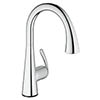 Grohe Zedra Touch Electronic Kitchen Sink Mixer with Pull Out Spray - Chrome - 30219001 profile small image view 1