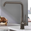 Grohe Essence Kitchen Sink Mixer - Brushed Hard Graphite - 30269AL0 profile small image view 1