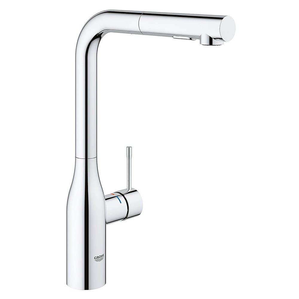 Grohe Essence Kitchen Sink Mixer with Pull Out Spray - Chrome - 30270000