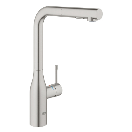 Grohe Essence Kitchen Sink Mixer with Pull Out Spray - SuperSteel - 30270DC0