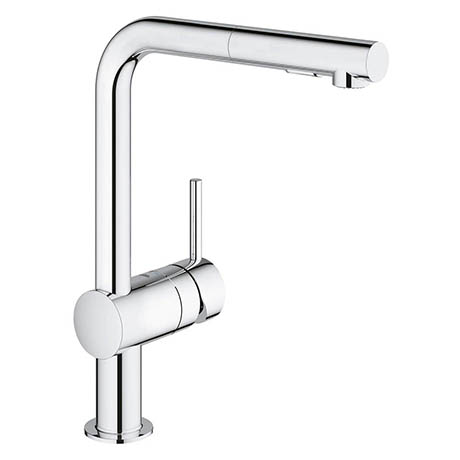 Grohe Minta Kitchen Sink Mixer with Pull Out Spray - Chrome - 30274000